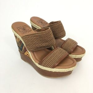 Lucky Beand espadrille Wedges Sandals Shoes 6.5